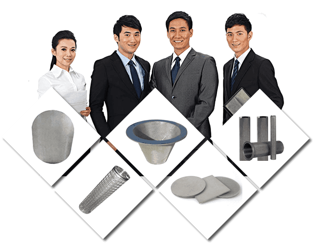 Our workers and sintered filter disc, filter cartridges and filter tubes.
