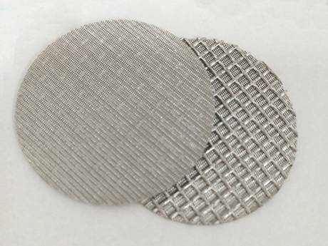 Dutch weave wire mesh filter panels and discs