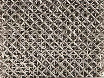 A piece of sintered square woven wire mesh